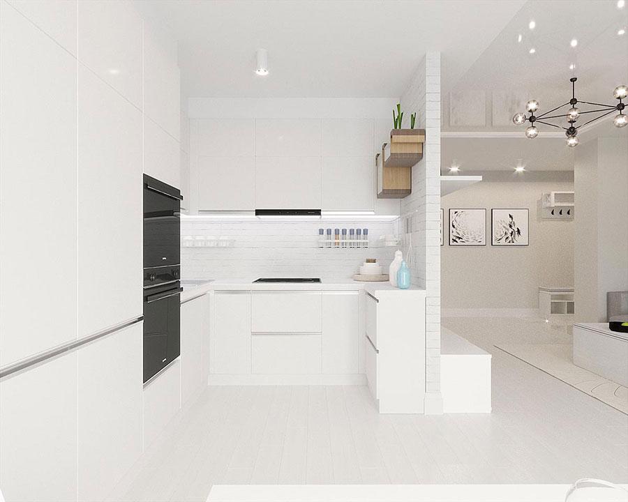 Idee per arredare casa con il bianco e il grigio n.21