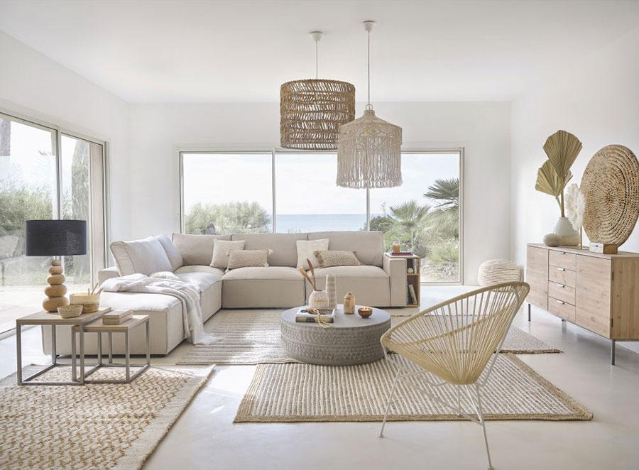 Idee per arredare casa con il bianco il grigio e il beige n.1