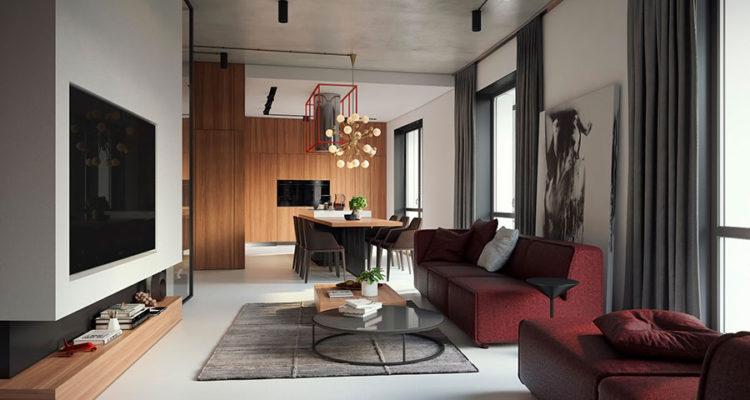 30 idee per arredare salotto e sala da pranzo insieme for Arredare casa 120 mq