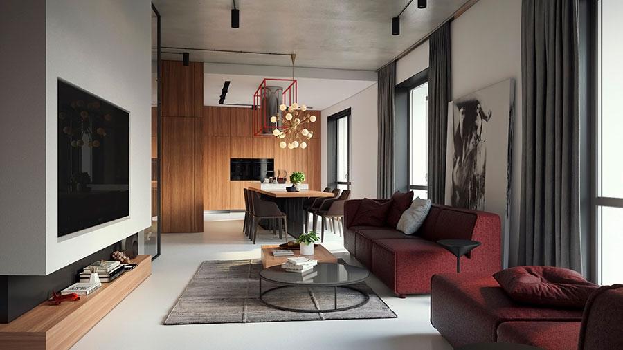 30 idee per arredare salotto e sala da pranzo insieme - Arredamento sala ...