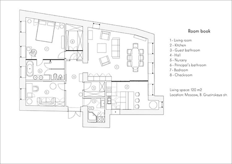 Appartamento 90 mq pianta for Arredare una villa