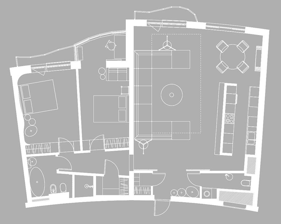 Idee per arredare un appartamento di 120 mq n.48