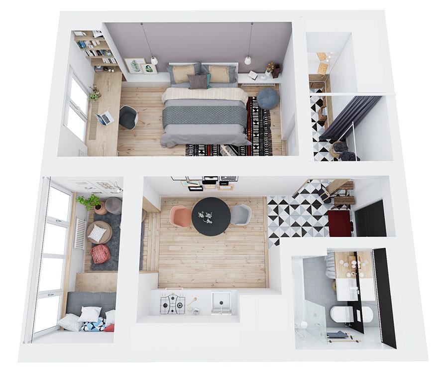 Tante idee per arredare una casa piccola in stile for Piccola casa efficiente