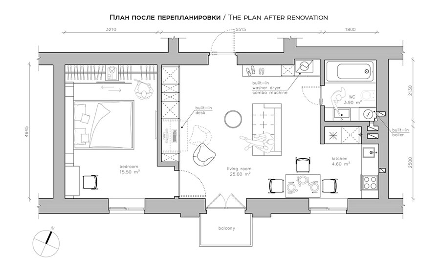 Idee per arredare una casa piccola in stile scandinavo n.09
