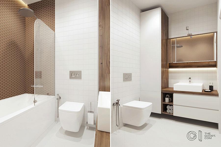 Progetto di bagno piccolo con vasca n.31