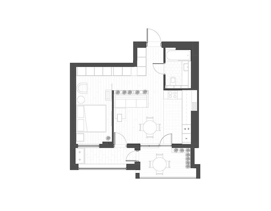 Idee per arredare una casa piccola in stile scandinavo n.26