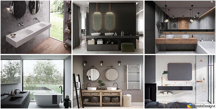 35 foto di bagni con doppio lavabo dal design elegante e for Immagini design