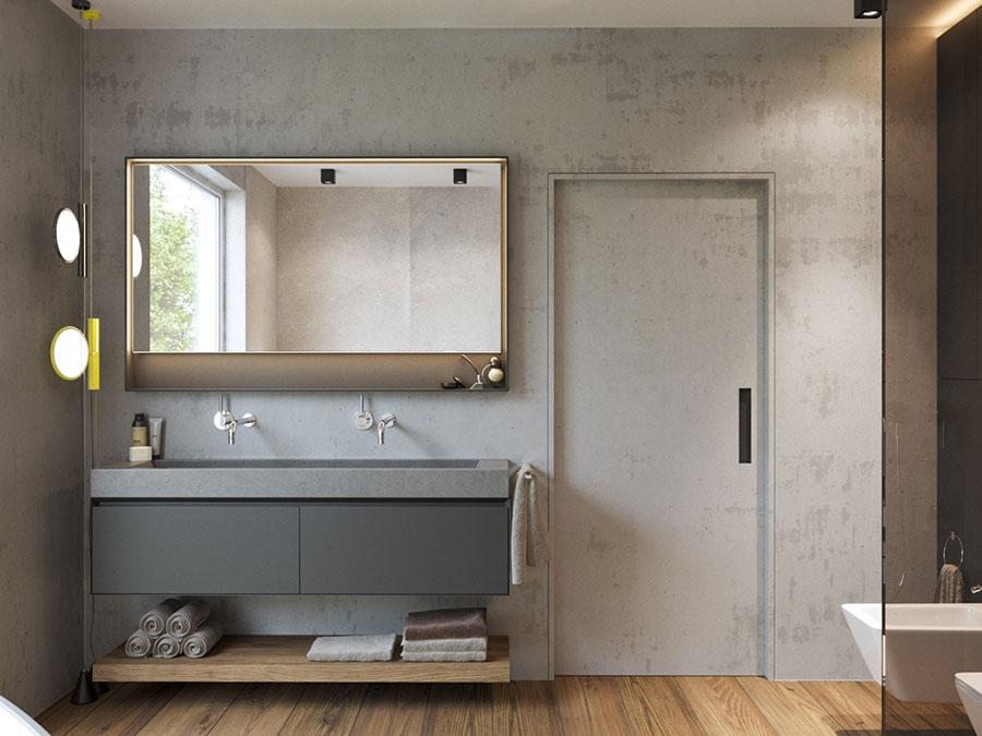 Modello di bagno con doppio lavabo di design n.03