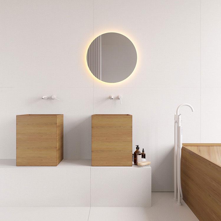 Modello di bagno con doppio lavabo di design n.05