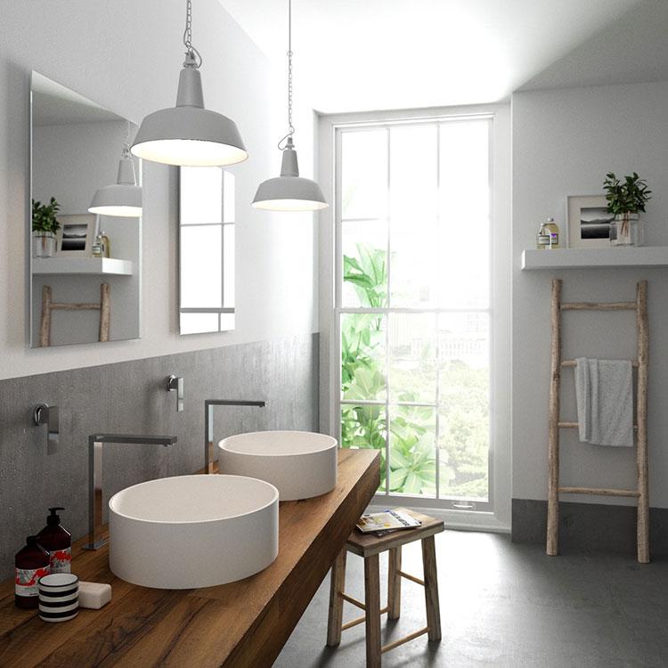 Modello di bagno con doppio lavabo di design n.27