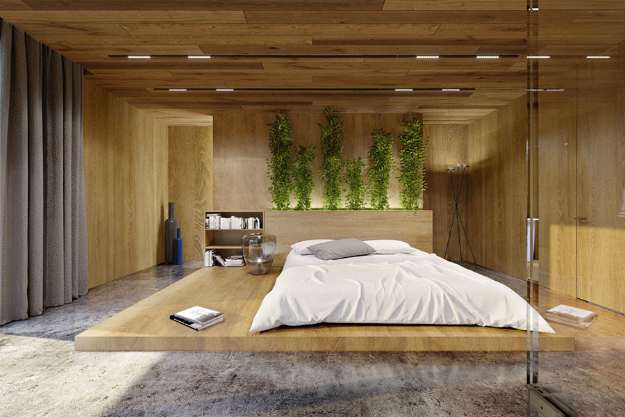 Idee per arredare la camera da letto con le piante n.15