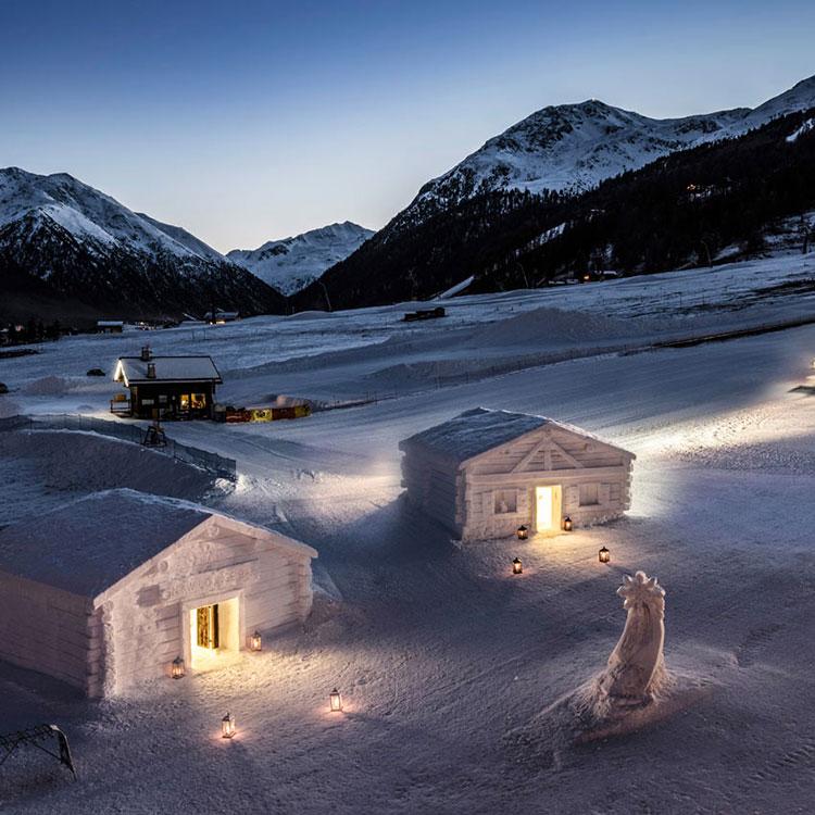 Esterno chalet di neve Hotel Lac Salin Livigno 1