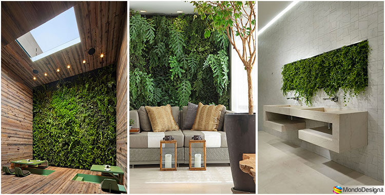 Giardino verticale interno 25 idee per pareti verdi in casa - Prato verticale per interni ...