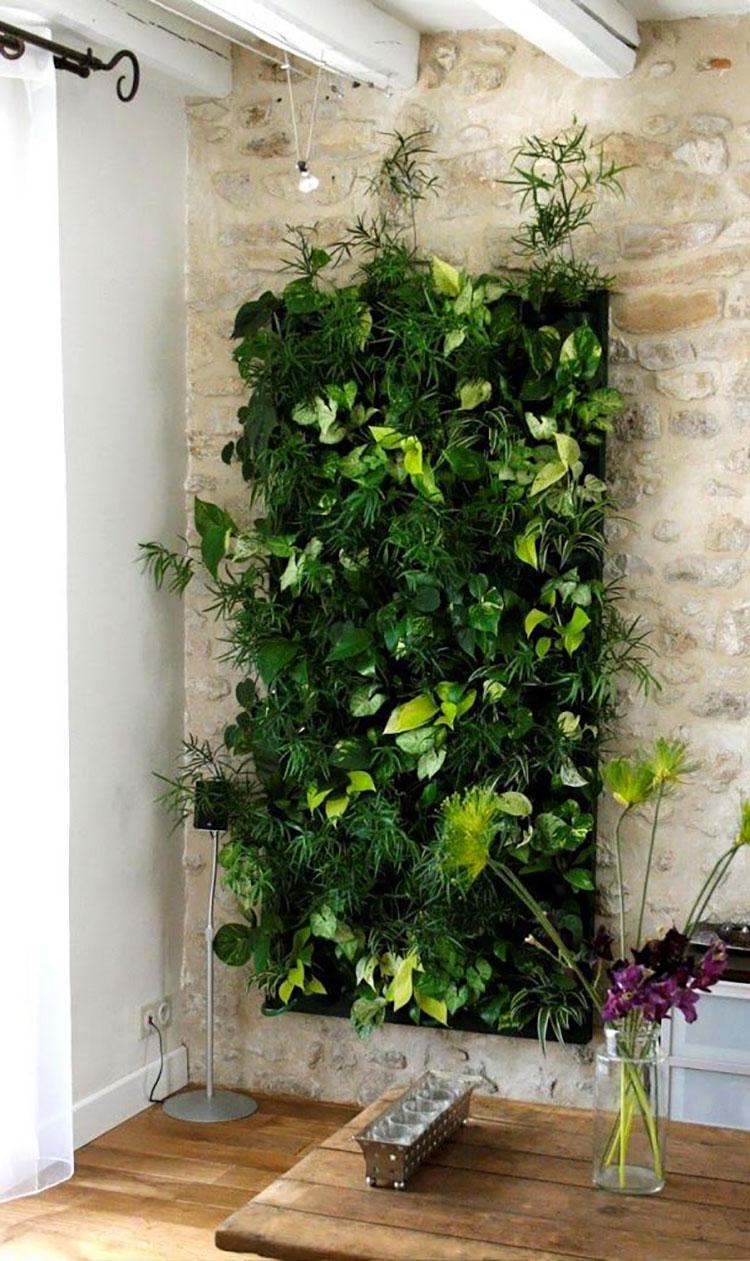 Giardino verticale interno 25 idee per pareti verdi in for Opzioni di rivestimenti verticali