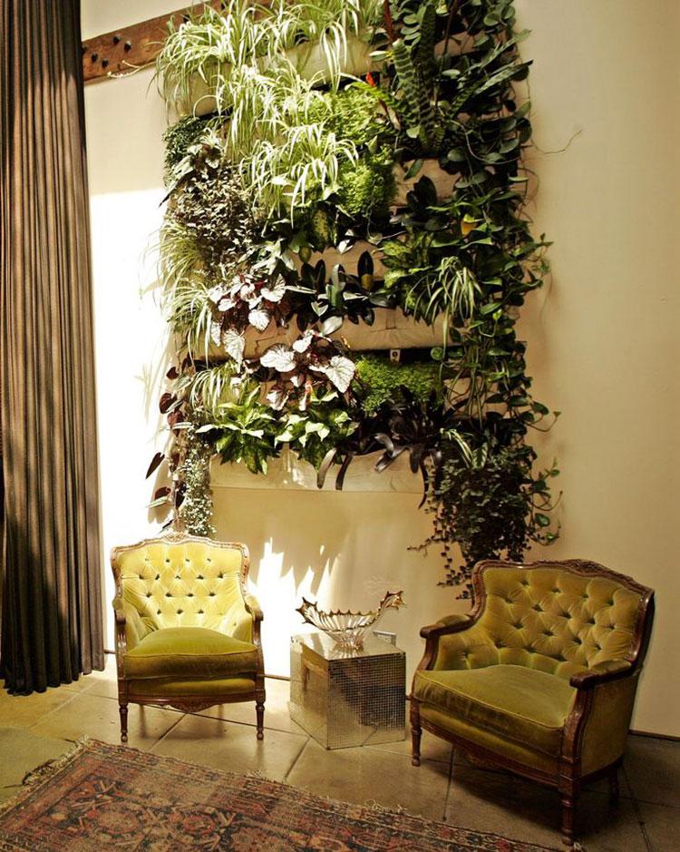 Giardino verticale interno 25 idee per pareti verdi in - Piante per giardino verticale ...