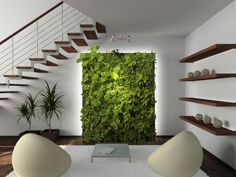 Pareti Verdi Interni.Giardino Verticale Interno 25 Idee Per Pareti Verdi In Casa