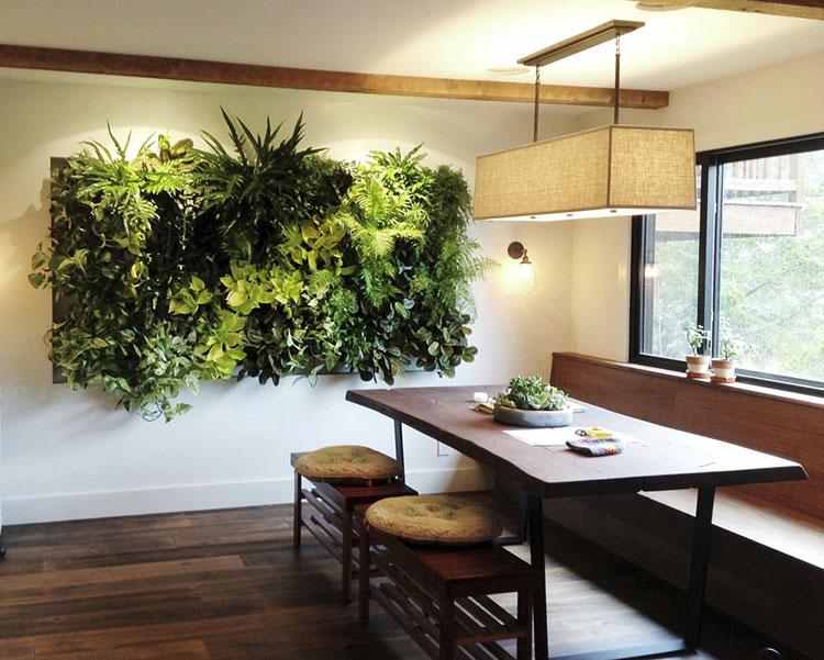 Giardino Verticale Interno 25 Idee Per Pareti Verdi In