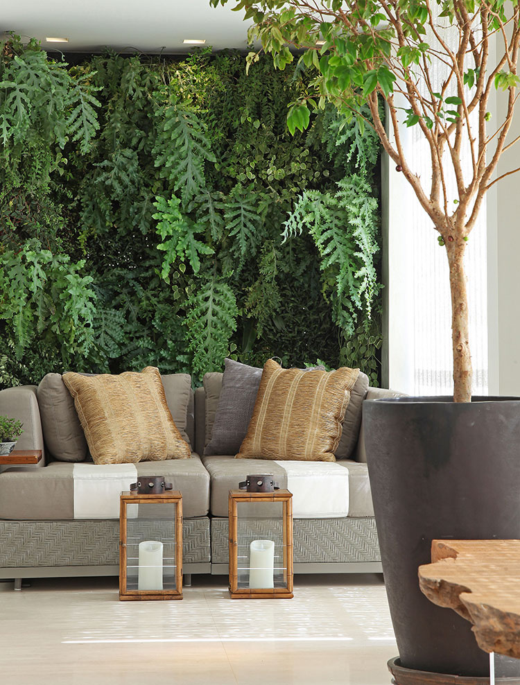 giardino verticale interno 25 idee per pareti verdi in casa. Black Bedroom Furniture Sets. Home Design Ideas