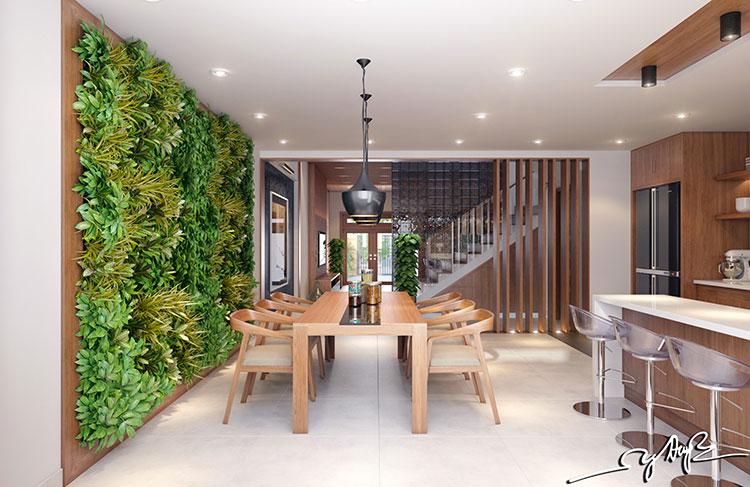 Foto di giardino verticale per interno n.21