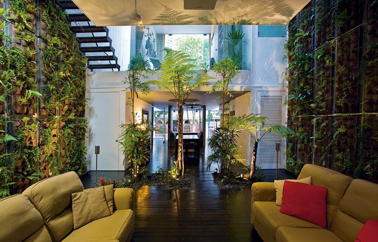 Giardini Interni Idee Casa Green : Giardino verticale interno idee per pareti verdi in