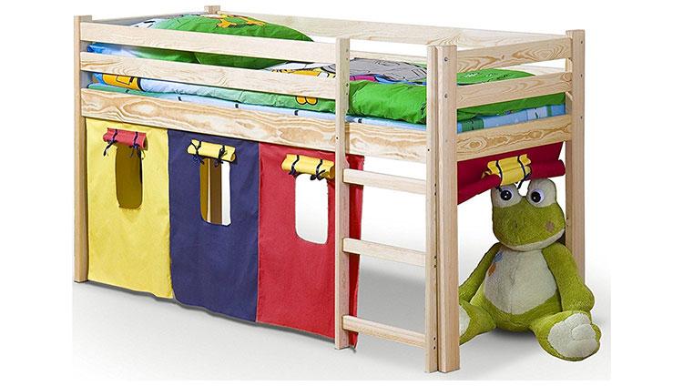 Modello di letto a soppalco con nascondiglio per bambini n.02