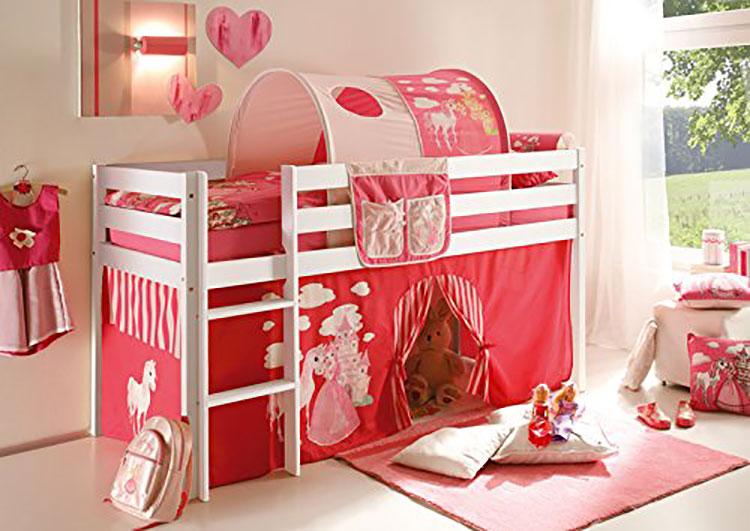 Modello di letto a soppalco con nascondiglio per bambini n.04