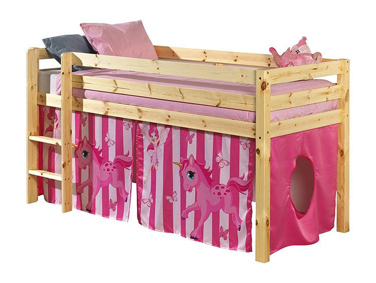 Modello di letto a soppalco con nascondiglio per bambini n.05