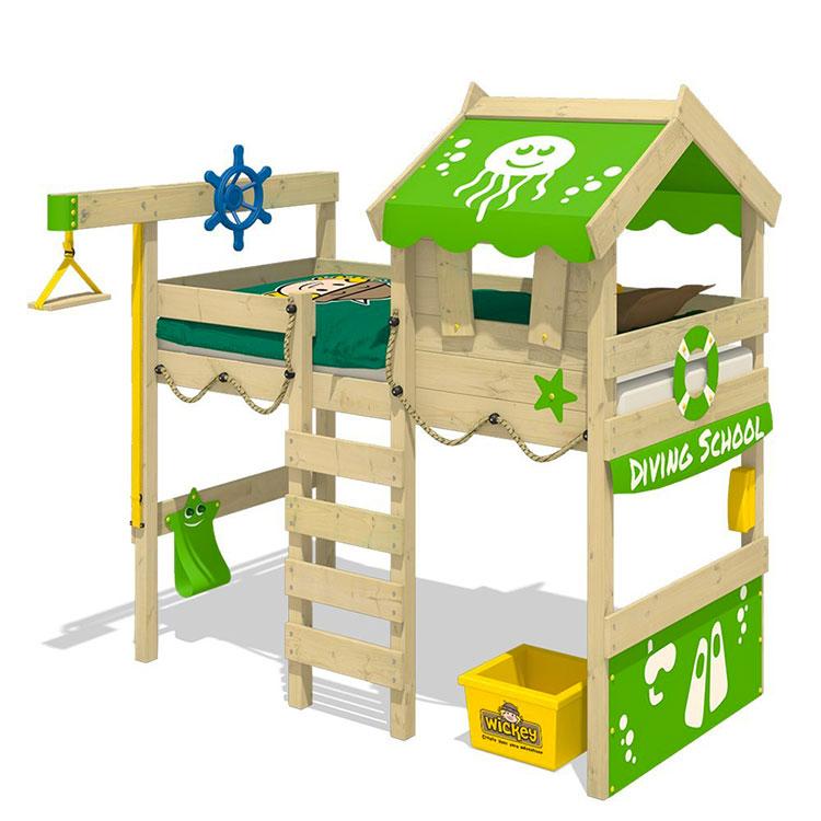 Modello di letto a soppalco con nascondiglio per bambini n.06