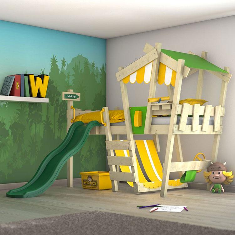 Modello di letto a soppalco con scivolo per bambini n.02