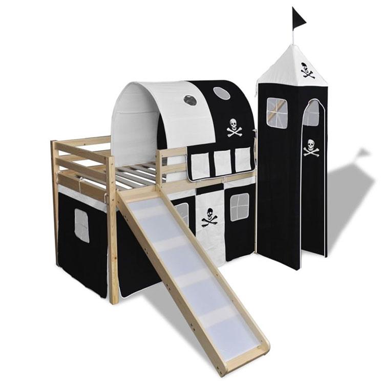 Modello di letto a soppalco con scivolo per bambini n.04