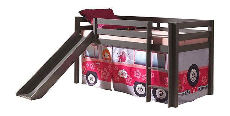 Modello di letto a soppalco con scivolo per bambini n.08