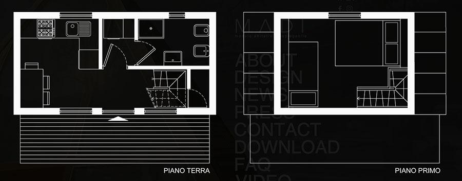 MADI casa pieghevole prefabbricata progetto n.01