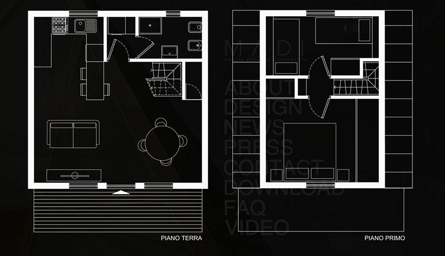 MADI casa pieghevole prefabbricata progetto n.03