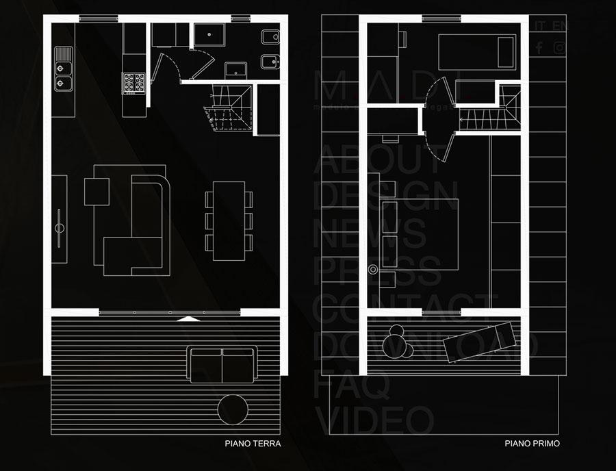 MADI casa pieghevole prefabbricata progetto n.04