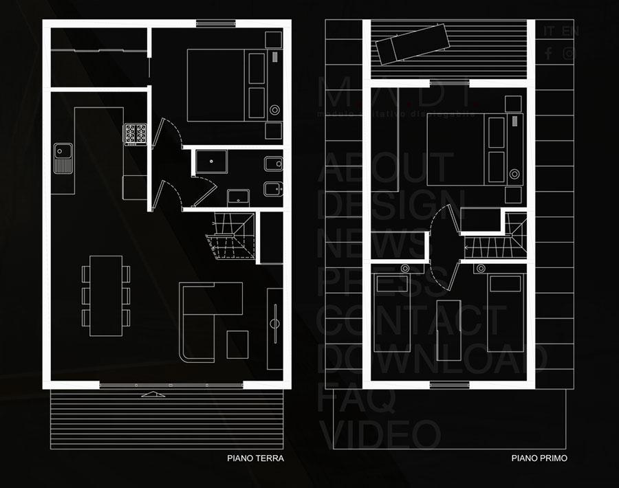 MADI casa pieghevole prefabbricata progetto n.05