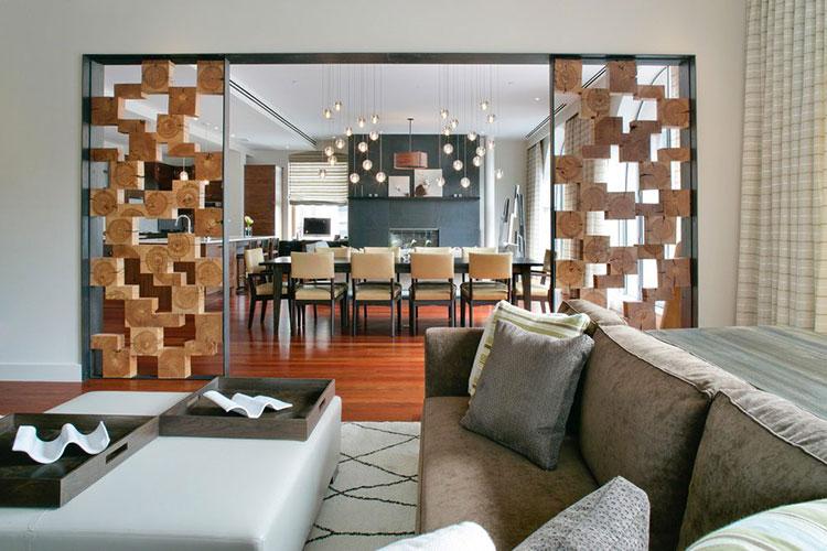 Idee per pareti divisorie in legno n.01