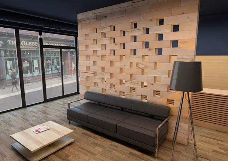 Idee per pareti divisorie in legno n.02