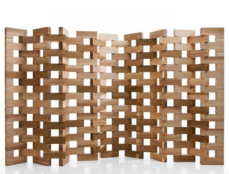 Idee per pareti divisorie in legno n.03