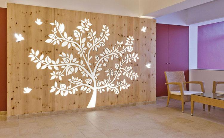 Idee per pareti divisorie in legno n.12