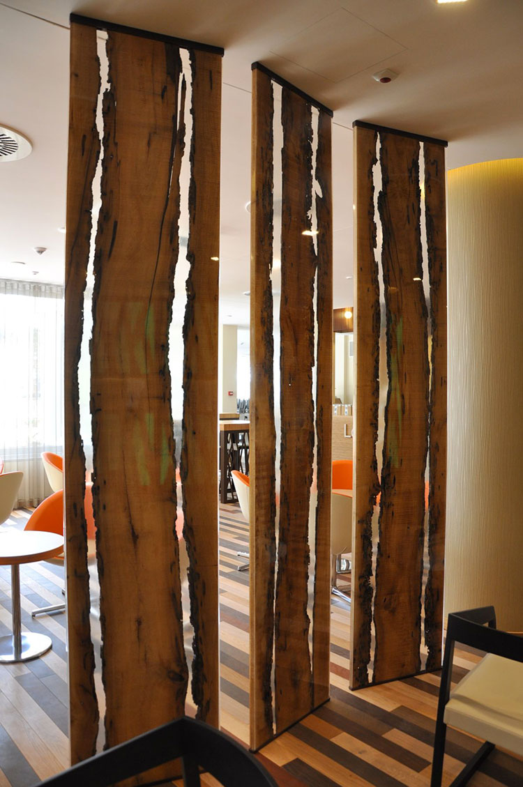 Idee per pareti divisorie in legno n.14