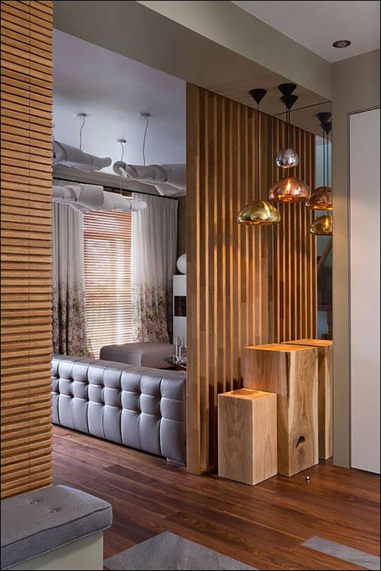 Idee per pareti divisorie in legno n.16