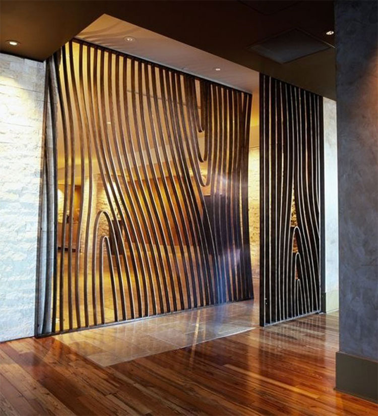 Idee per pareti divisorie in legno n.17