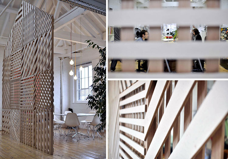 Idee per pareti divisorie in legno n.18