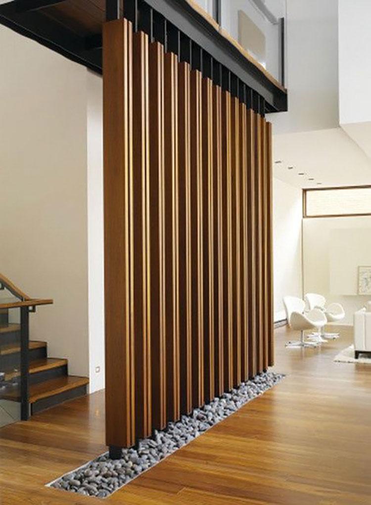 Idee per pareti divisorie in legno n.19