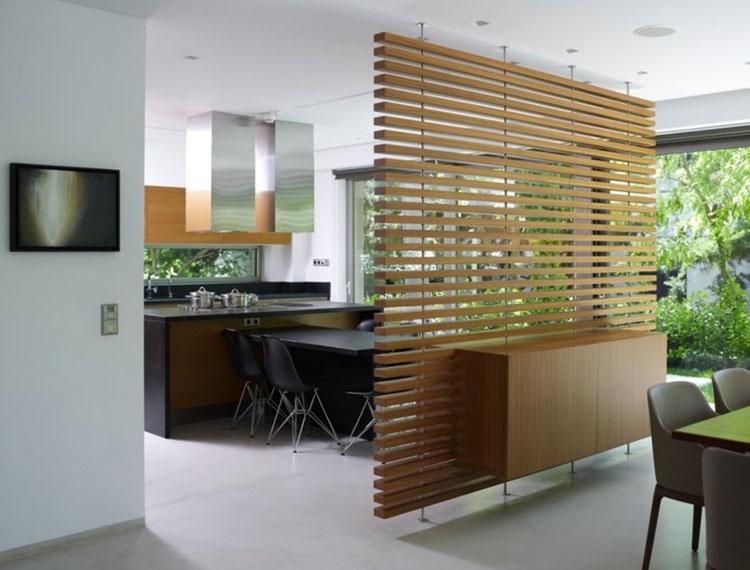 Idee per pareti divisorie in legno n.21