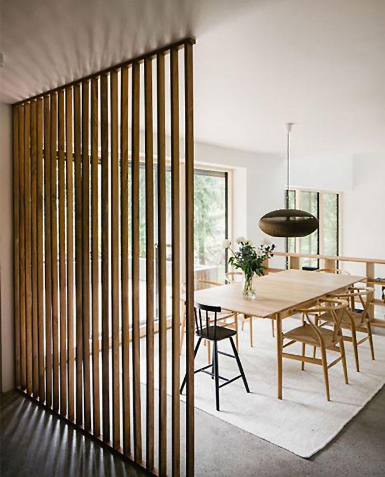 Idee per pareti divisorie in legno n.23