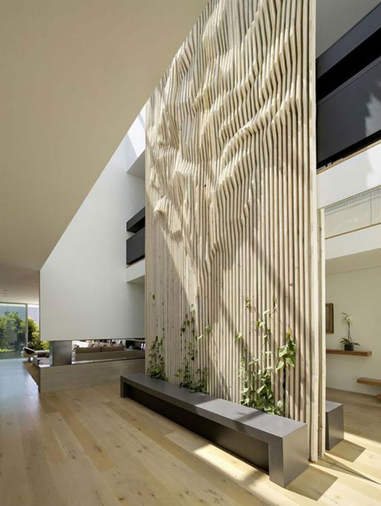 Idee per pareti divisorie in legno n.24