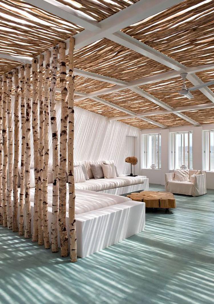 Idee per pareti divisorie in legno n.25