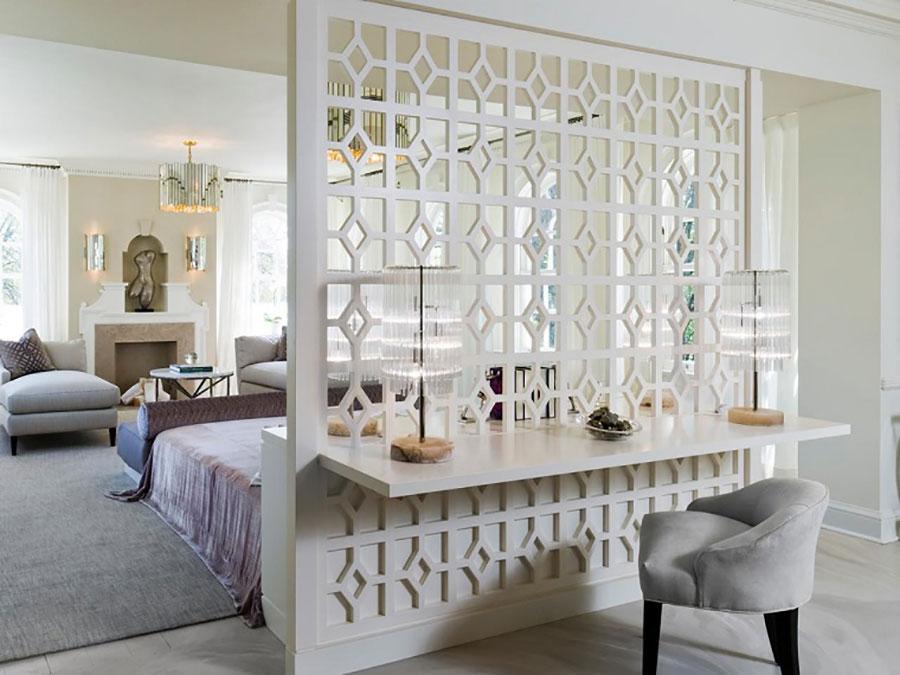 Idee per pareti divisorie in legno bianco n.02