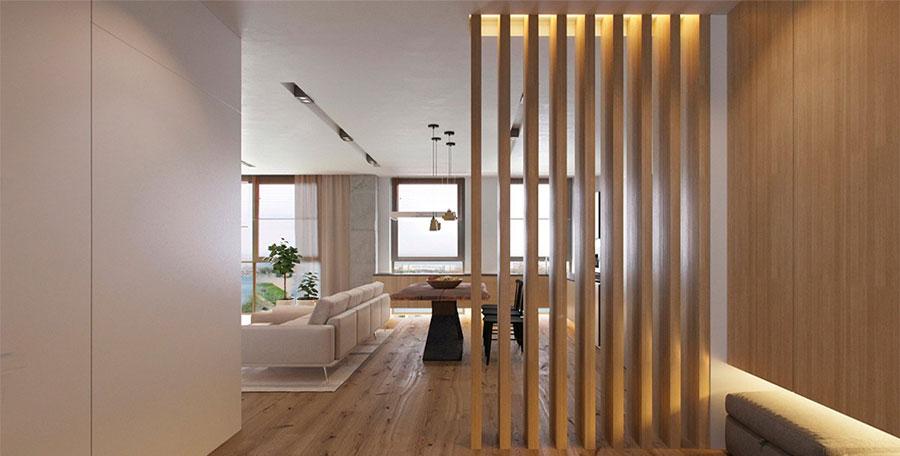 Idee pareti divisorie in legno